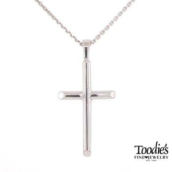 Round Cross Necklace