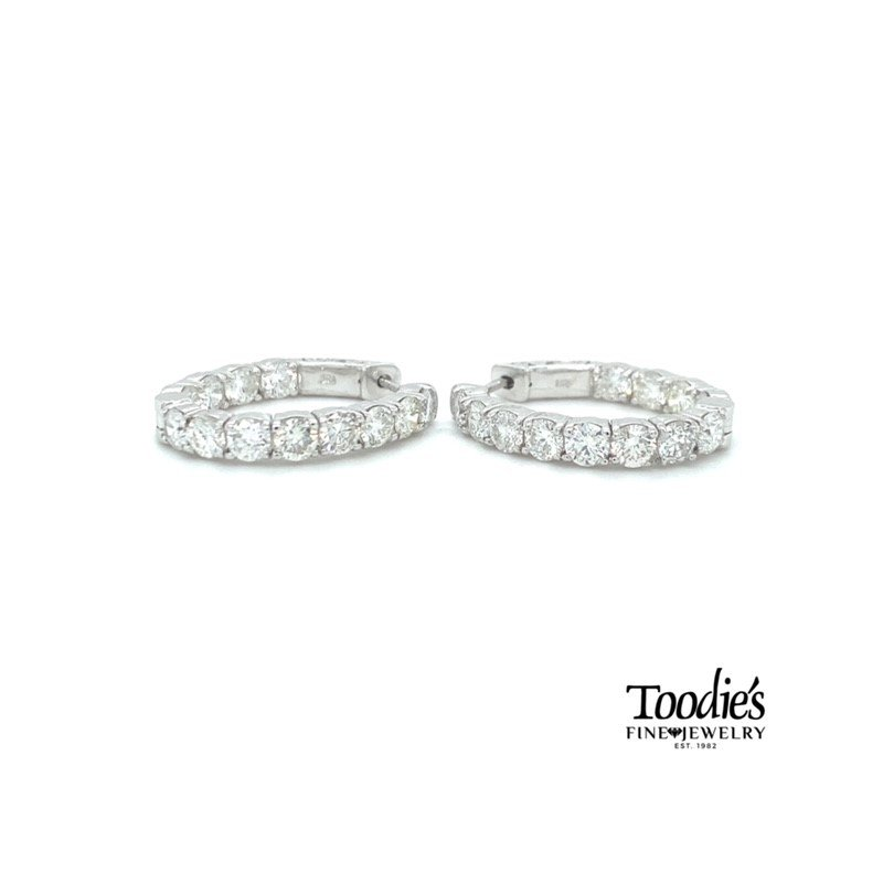 Toodie's Signature Fashion Diamond Inside Out Hoop Earrings