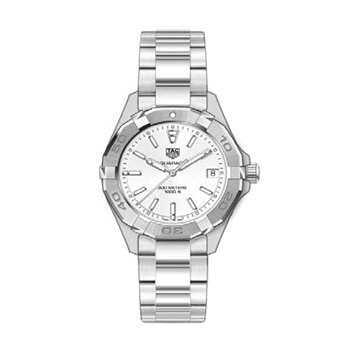 Ladies Aquaracer Watch with White Mother of Pearl Dial.