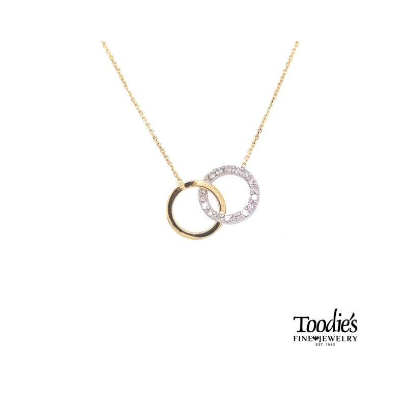 Toodie's Signature Fashion Interlocking Diamond Circle Necklace