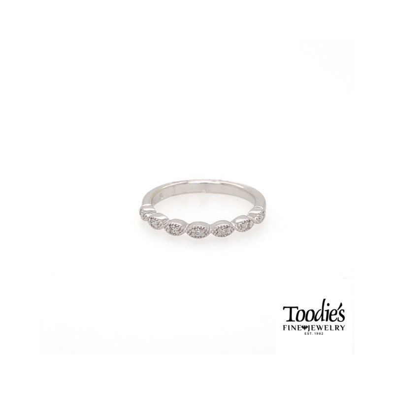 Toodie's Signature Fashion Marquise Shaped Milgrain Stackable