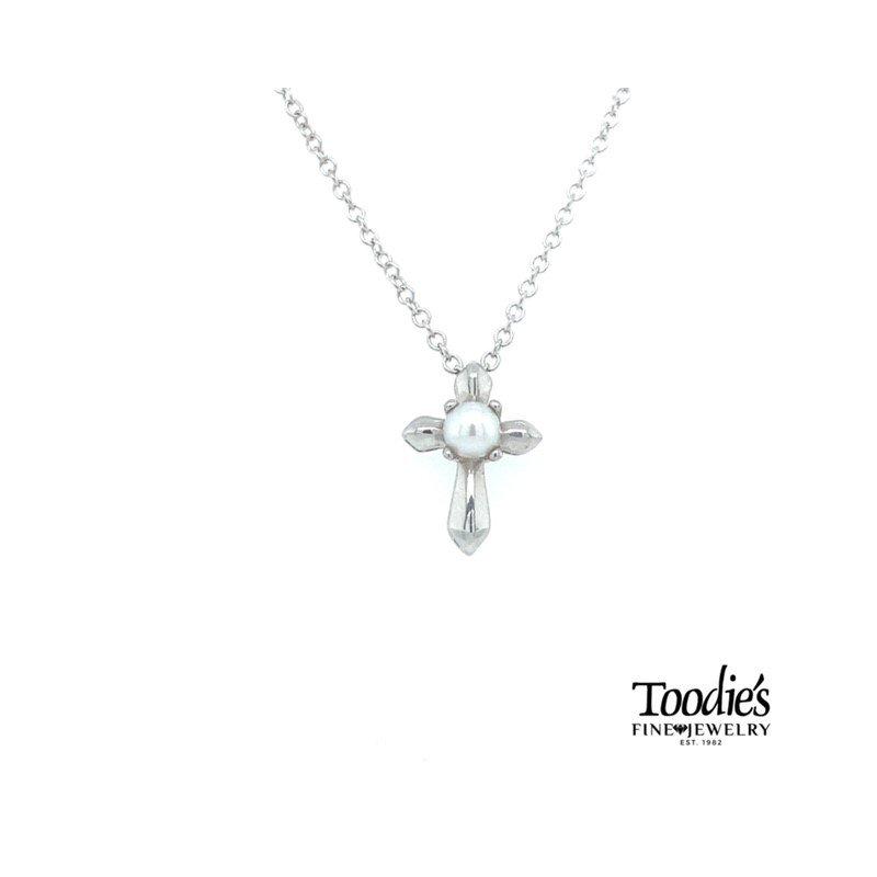 Gabriel Fashion Petite Pearl Cross and Chain