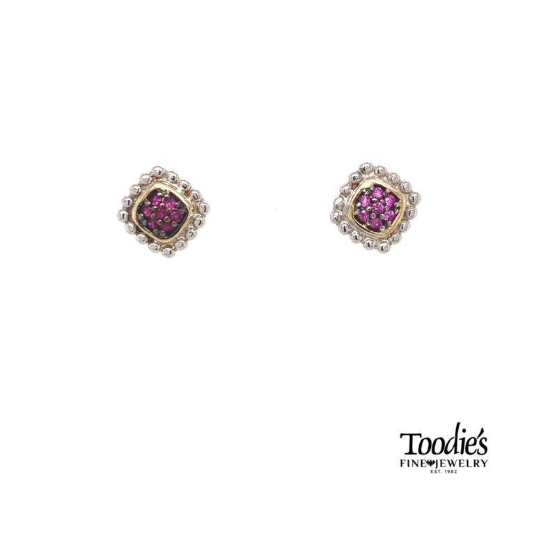 Phillip Gavriel Ruby Cluster Studded Earrings