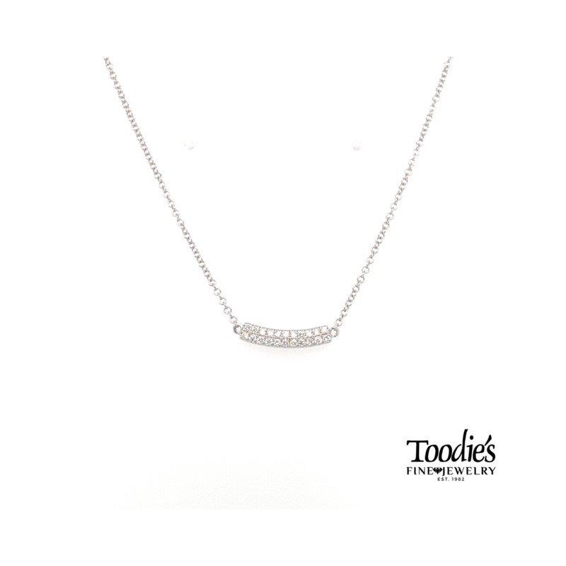 Gabriel Fashion Curved Petite Bar Necklace