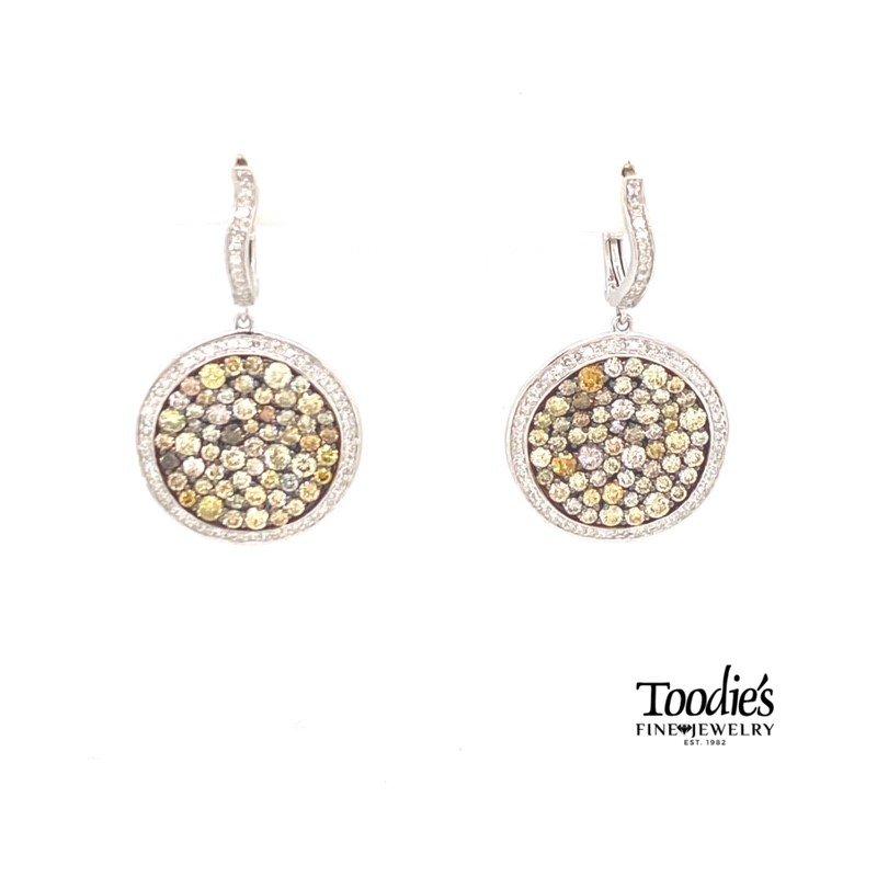Toodie's Signature Fashion Fancy Diamond Drop Earrings