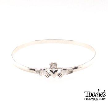 Silver Claddaugh Bracelet