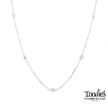 1/2ct. Twt. Diamonds by the Yard Necklace