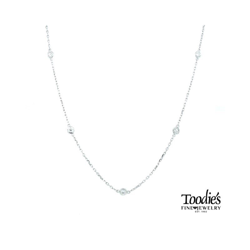 Toodie's Signature Fashion 1/2ct. Twt. Diamonds by the Yard Necklace
