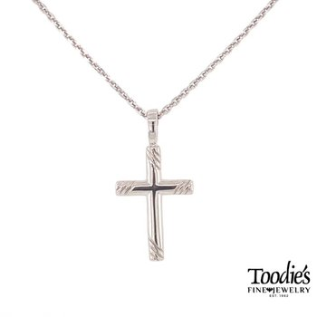 Scroll Style Cross Necklace