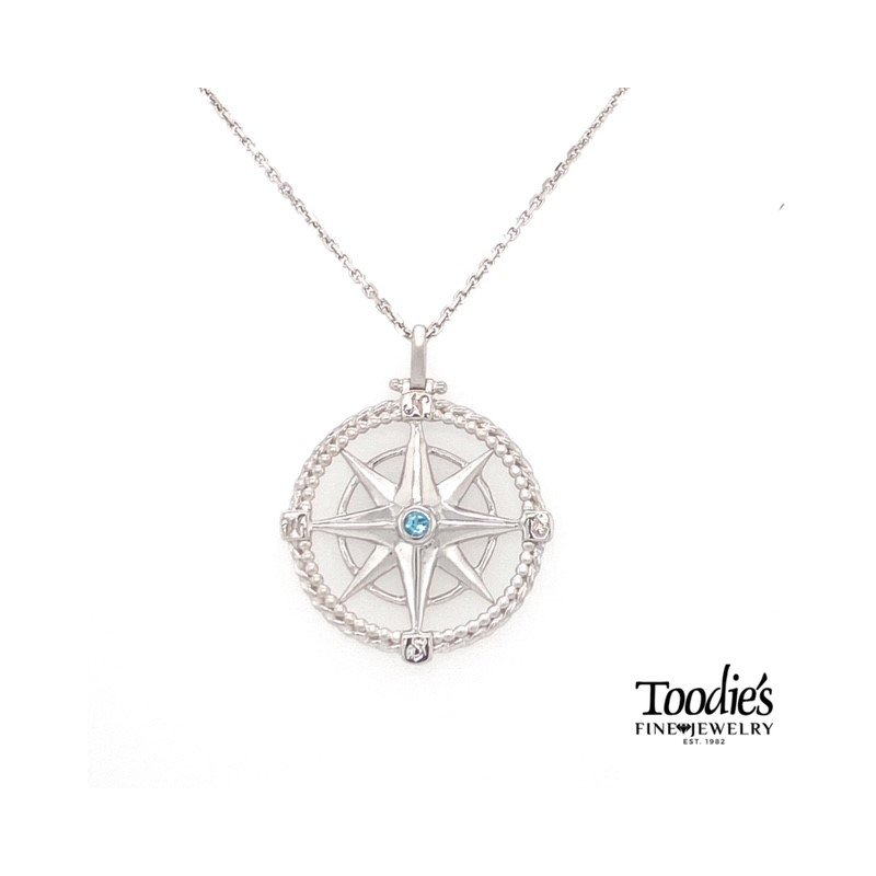 Penny James Jewelry Compass Pendant Necklace