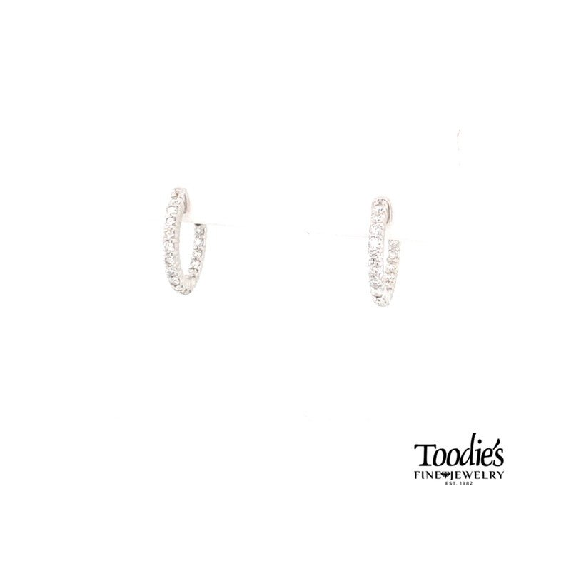 Toodie's Signature Fashion Inside Out Diamond Hoop Earrings