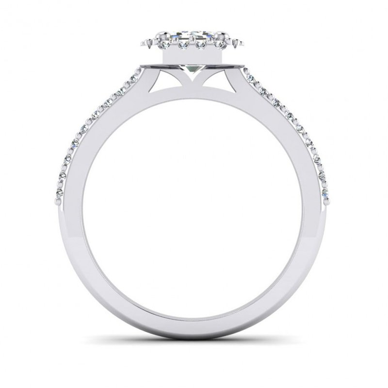 Toodie's Bridal Emerald Cut/ Radiant Style Halo Engagement Ring
