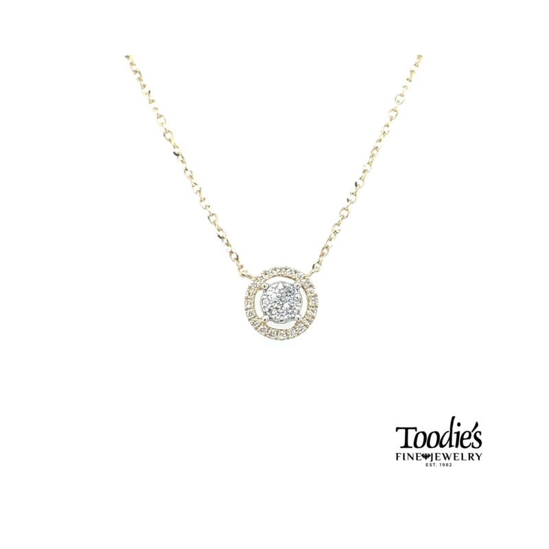 Toodie's Signature Fashion Rounded Diamond Cluster Pendant