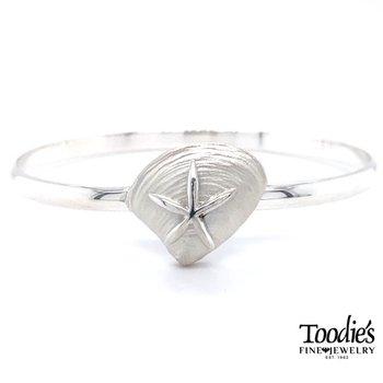 Quahog & Starfish Bangle Bracelet