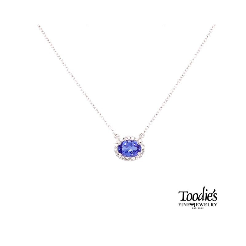 Toodie's Signature Fashion White Gold Tanzanite And Diamond Necklace