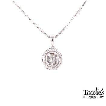 Invisible Set Diamond Pendant