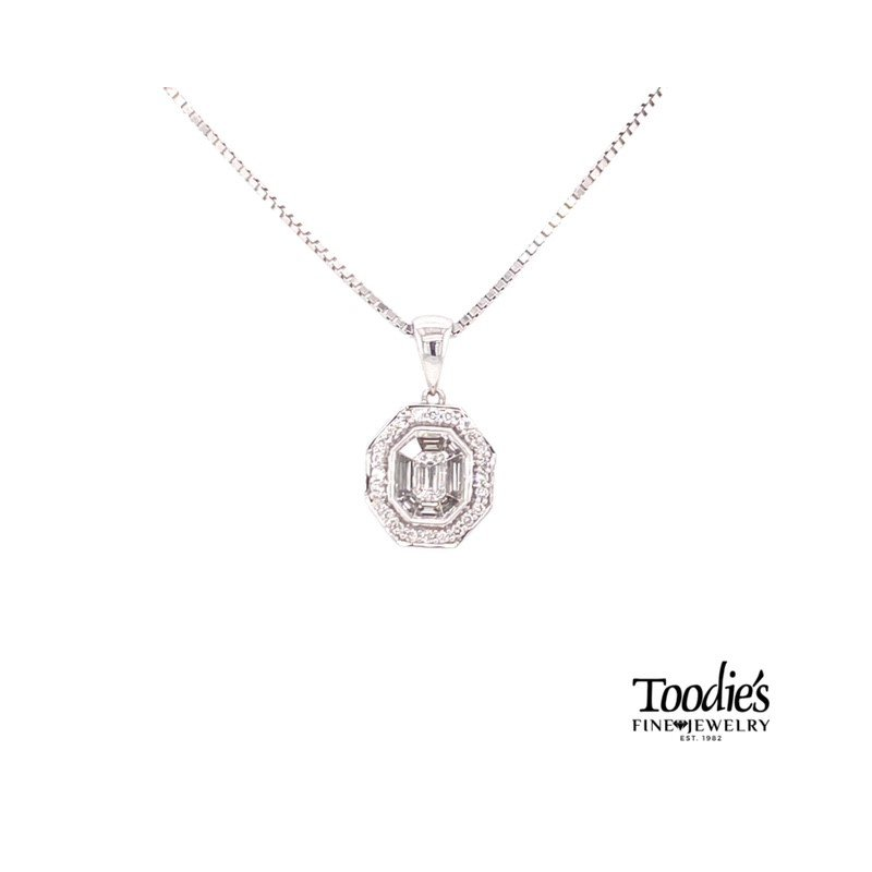 Toodie's Signature Fashion Invisible Set Diamond Pendant