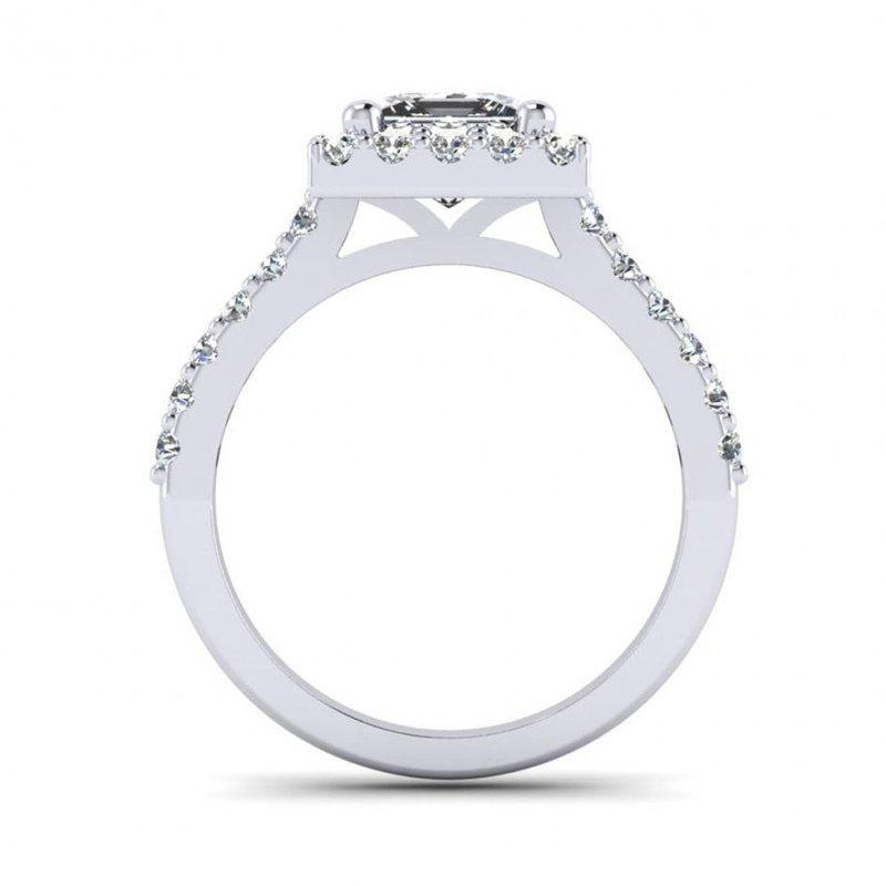 Toodie's Bridal Princess Cut Diamond Halo Design Engagement Ring
