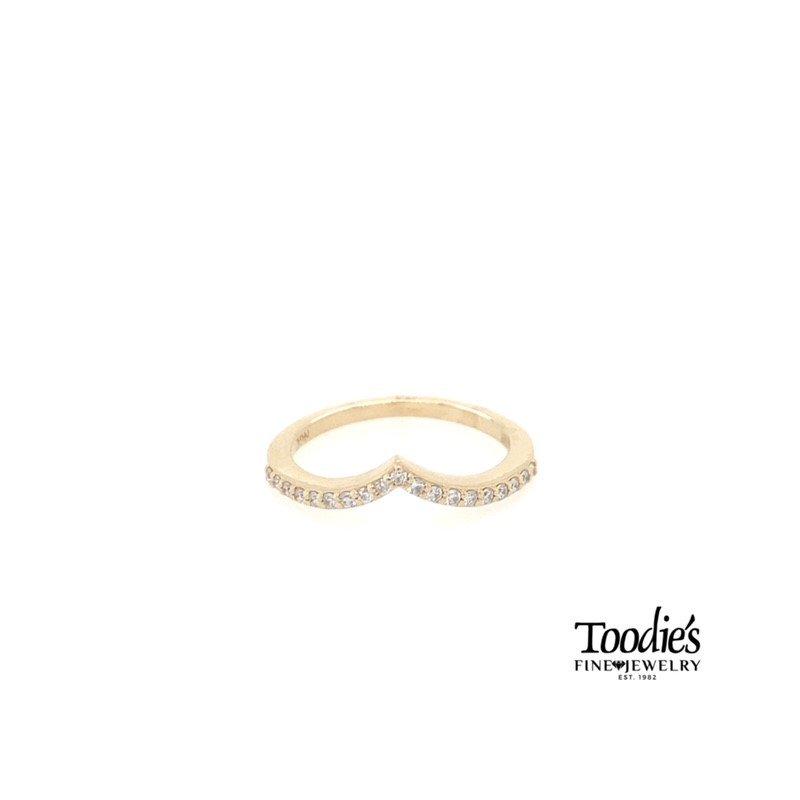 "Toodie's Signature Fashion ""V"" Shaped Diamond Band"