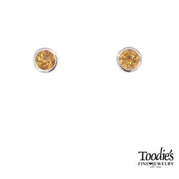 Sterling Silver with Citrine Studded Earrings