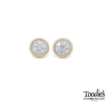 Button Studded Earrings