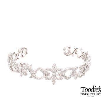 Diamond Swirl Cuff Bracelet