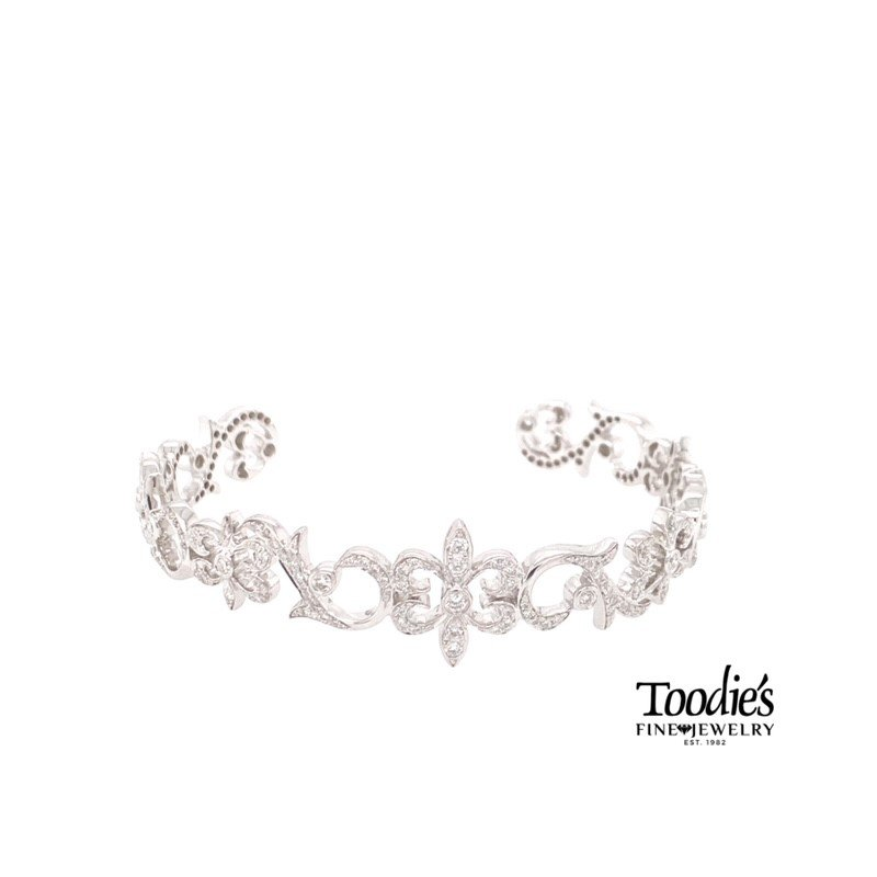 Toodie's Signature Fashion Diamond Swirl Cuff Bracelet