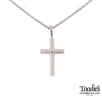 Rope Design Cross Necklace