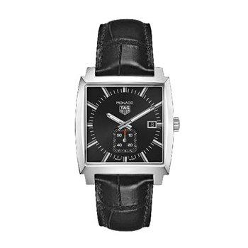 Monaco Quartz Watch with Black Dial