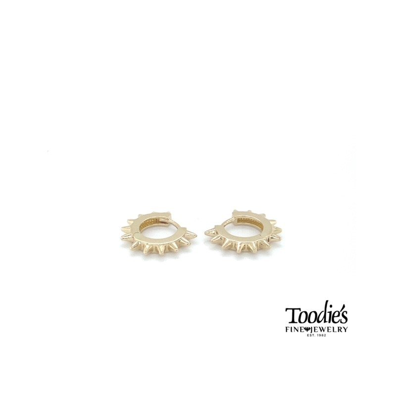 Toodie's Signature Fashion Spiked Hoop Earrings
