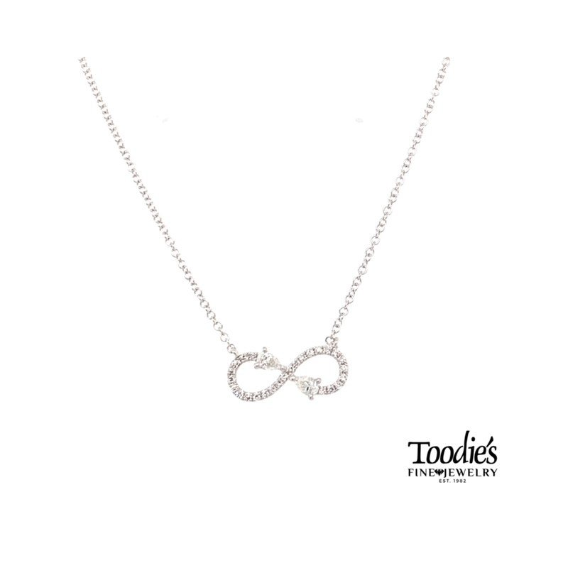 Shy Creation Gold Infinity Style Diamond Necklace