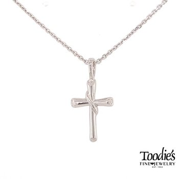 Round Flair Scroll Cross Necklace