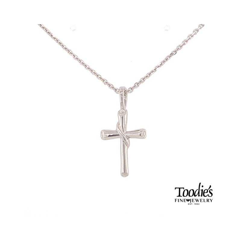 Toodie's Signature Fashion Round Flair Scroll Cross Necklace
