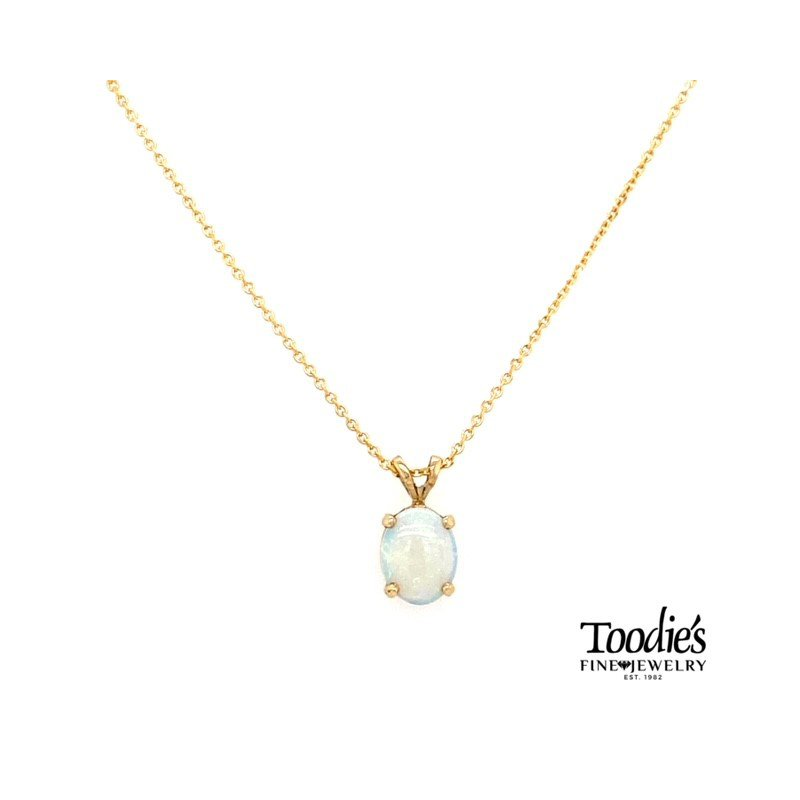 Toodie's Signature Fashion Yellow Gold Opal Necklace
