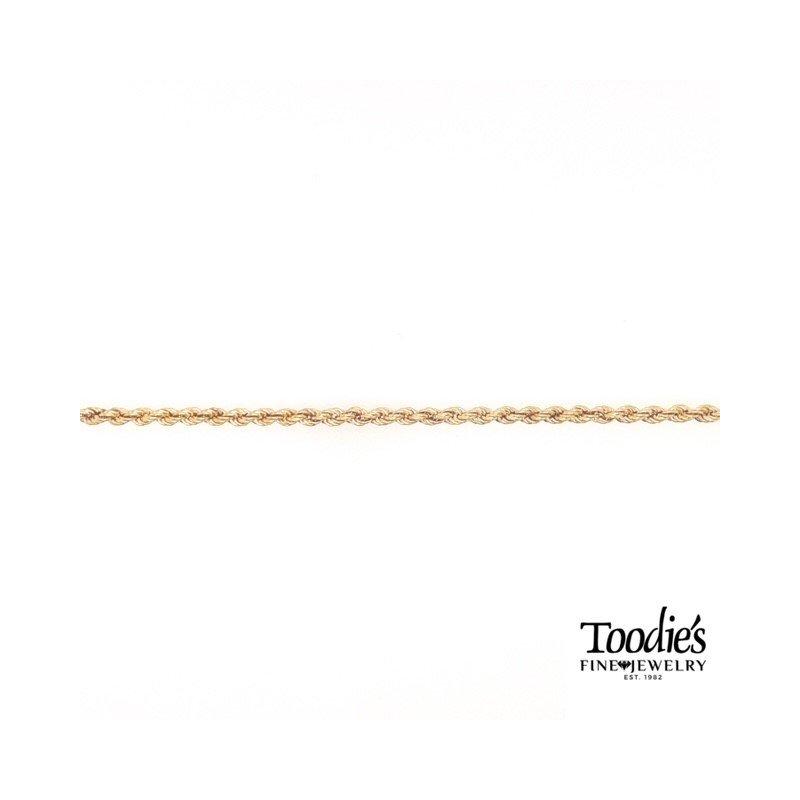 Toodie's Signature Fashion Gold Rope Bracelet