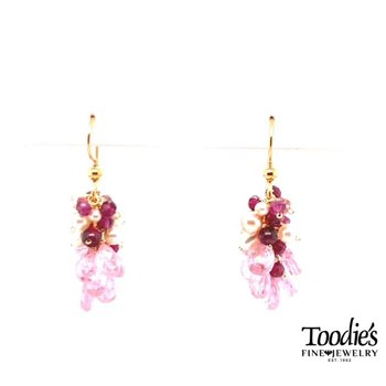 Multi Pink Drop Earrings