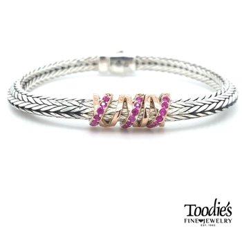 Woven Pink Sapphire Bracelet