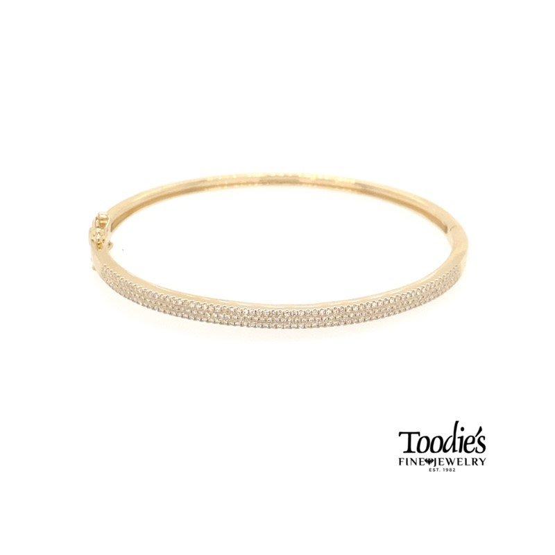 Shy Creation Pave Diamond Bangle Bracelet