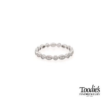Marquise and Round Diamond Stackable