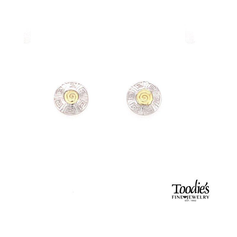 Charsinsky Designs Greek Key Studded Earrings
