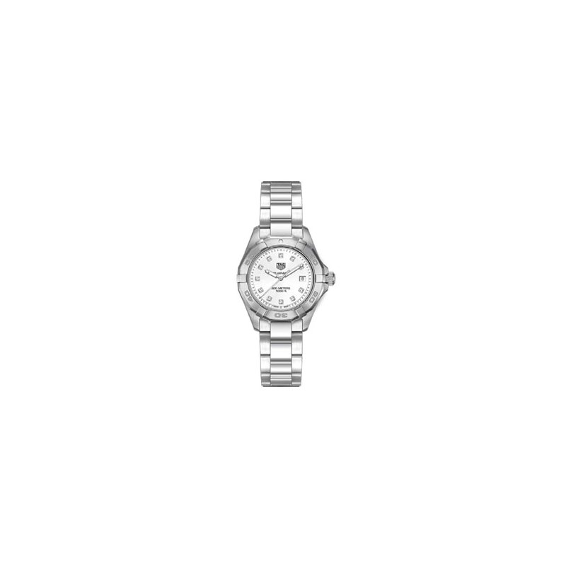 TAG Heuer Ladies Aquaracer Watch with White Mother of Pearl Diamond Dial.