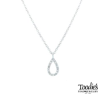 Pear Shaped Diamond Drop Necklace