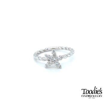 Toodies Signature Diamond Starfish Ring