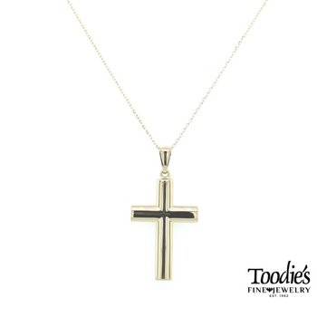 Large Plain Polished Cross with Chain