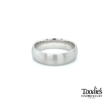 6.5mm Satin Finish Low Dome Wedding Band