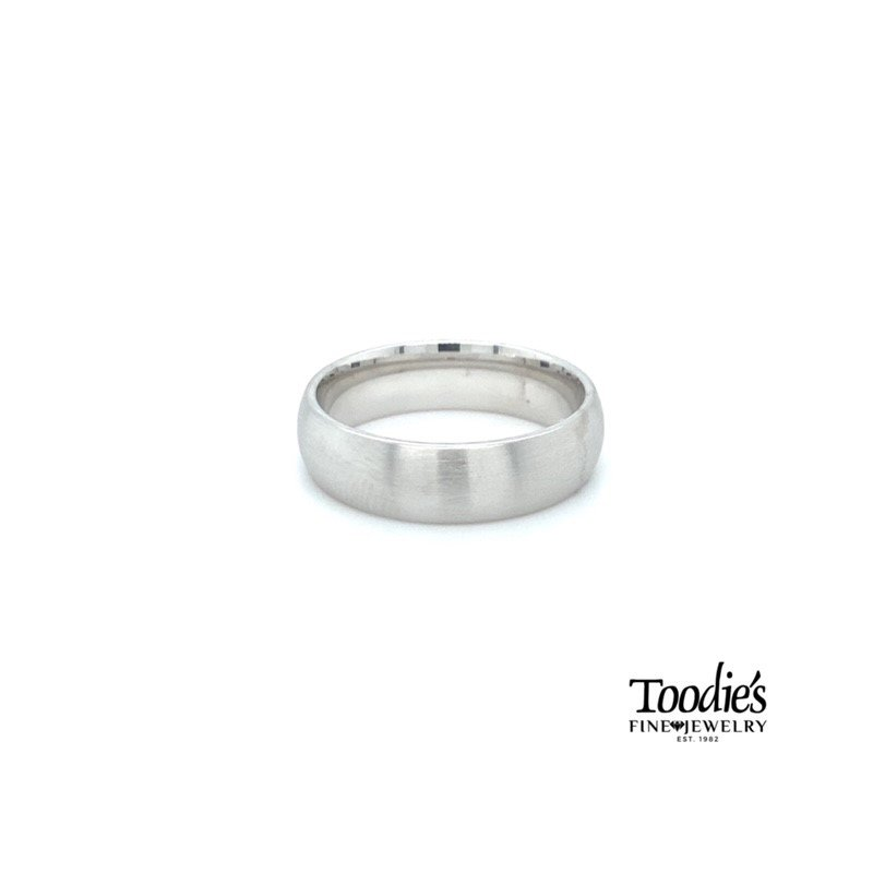 Toodie's Signature Fashion 6.5mm Satin Finish Low Dome Wedding Band