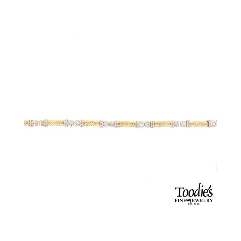 Toodie's Signature Fashion Rope Design Diamond Bracelet