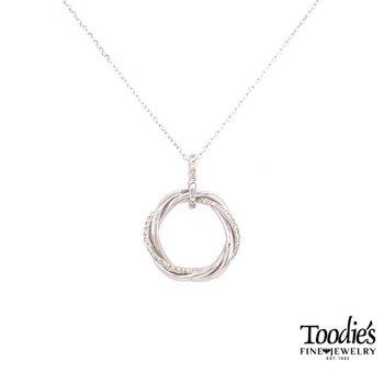 Twisted Diamond Circle Necklace