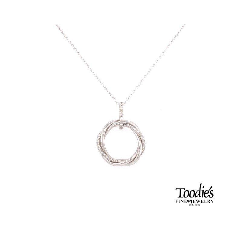 Toodie's Signature Fashion Twisted Diamond Circle Necklace