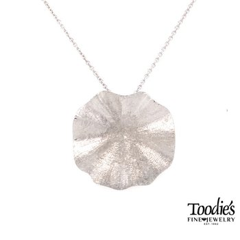 Textured Lily Pad Necklace